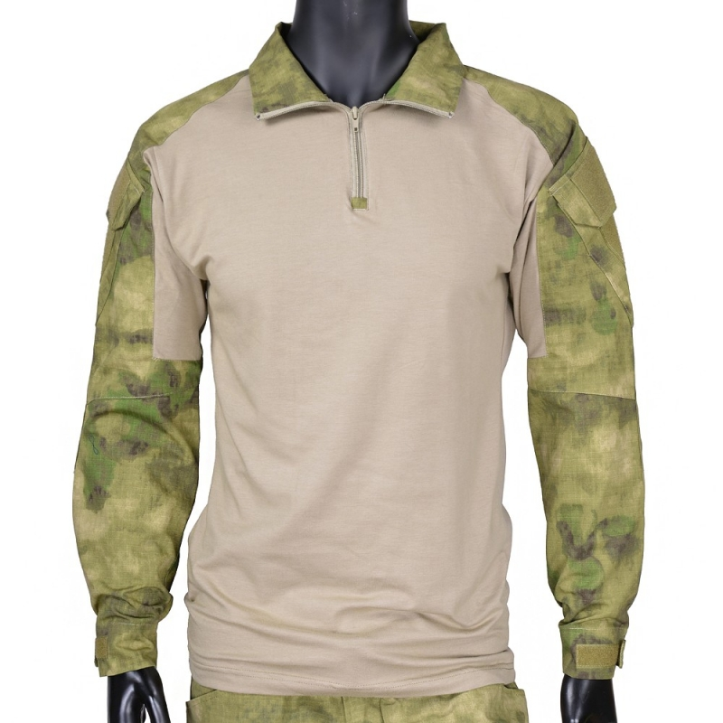 CQC Military Tactical Shirt Gen2 Long Sleeve Men Hunting Paintball Airsoft Army BDU Combat Shirt With Elbow Pads A-TACS FG