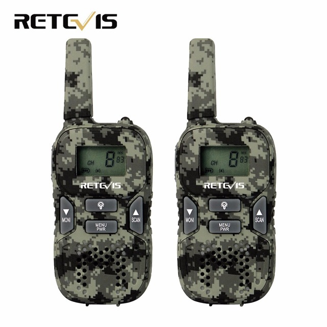 2pcs Children Walkie Talkie Kids Radio Camouflage Retevis RT33 8CH 0.5W PMR446MHz Frequency Portable Scan VOX CTCSS/DCS A9117