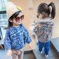2016 Nuevos NIÑOS Muchachas Del Muchacho Del Suéter Grueso Triángulo Vintage Bobo Choses Kikikids Baby Girls Ropa Puente Primavera Otoño Traje de Los Niños