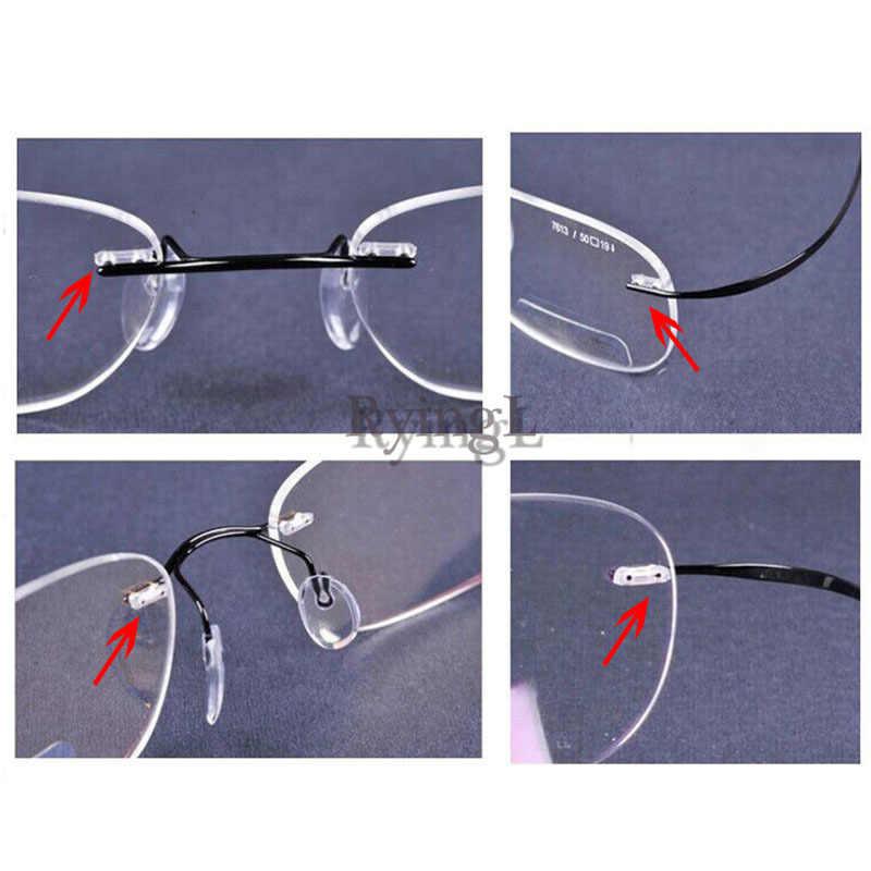 #100pcs Mixed size Rimless Glasses Double rubber plug Lock Bushings  eyeglasses plastic double bushing pins