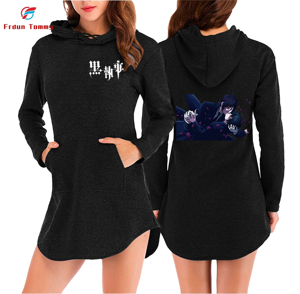 Black Butler 2D New Style Printing Summer Casual Harajuku Women Summer And Spring Dress Clothes 2019 Hot Sale K-pops Dress Plus