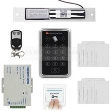 DIYSECUR 125KHz RFID Keypad Access Control Security System Full Kit Set + Electric Drop Bolt Lock + 10 Free Cards