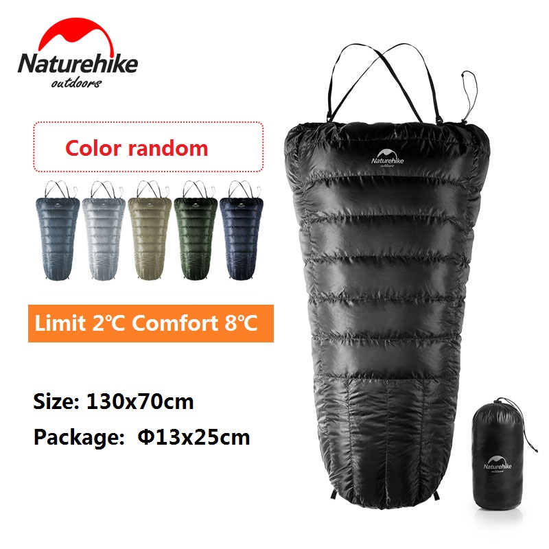 Naturehike Factory Store Ultralight Half Chest Strap Duck Down Sleeping bag outdoor camping hiking goose Down Lazy sleeping bag цена 2017