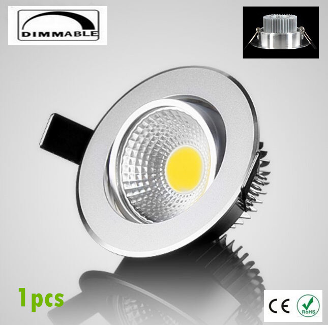 Hot seller 1pcs dimmable led downlight cob spot light 6w 9w 12w 15w 1pcs dimmable led downlight cob spot light 6w 9w 12w 15w 18w recessed lights bulbs indoor lighting free shippping aloadofball Image collections