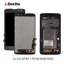 100% tested Original For LG K7 LTE Q7 X210 X210DS LCD Display Touch Screen Digitizer Assembly With/Without Frame Black White все цены