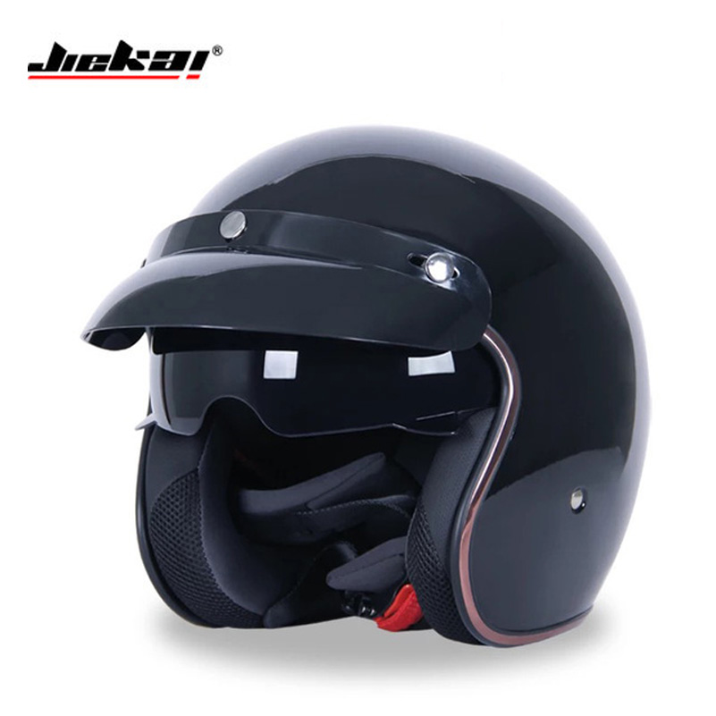 Jiekai Motorcycle helmets open face DOT retro casque casco de moto jet vintage helmets motorcycle capacetes de motociclista gxt dot approved harley motorcycle helmet retro casco moto cascos dirt bike open face vintage downhill helmets for women and men