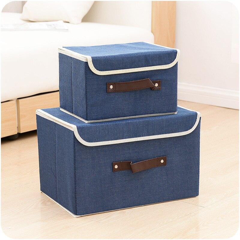 Новый высокое качество льна Цвет удобный складной ящик для хранения игрушек отделка окно сортировки Костюмы Сумки сумка для хранения Box