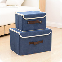 New High Quality Flax Color Convenient Folding Storage Box Toy Finishing Box Sorting Clothing Bags Storage Bag Box