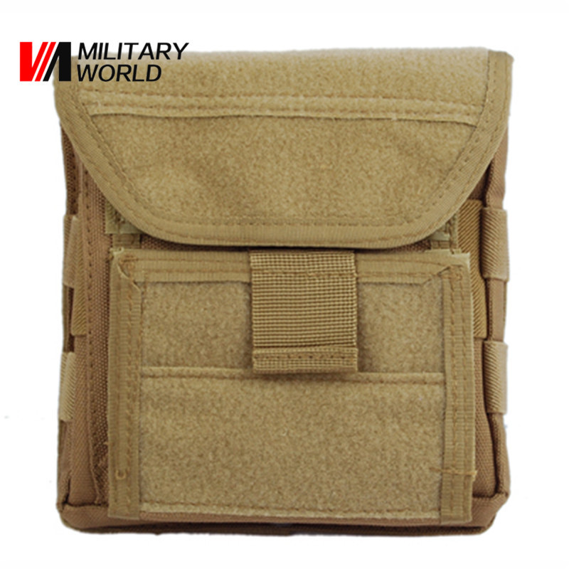 Muti-functional 1000D Molle Admin <font><b>Magazine</b></font> Storage Men's Tactical Pouch For Air Gun Pistol Holster Bag Hunting accessories