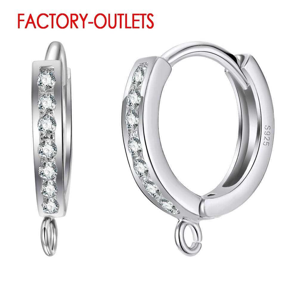 Hızlı Kargo Süper Ucuz 925 Ayar Gümüş Basit tasarım küpe Bulguları Yıldönümü/Parti moda takı Aksesuar