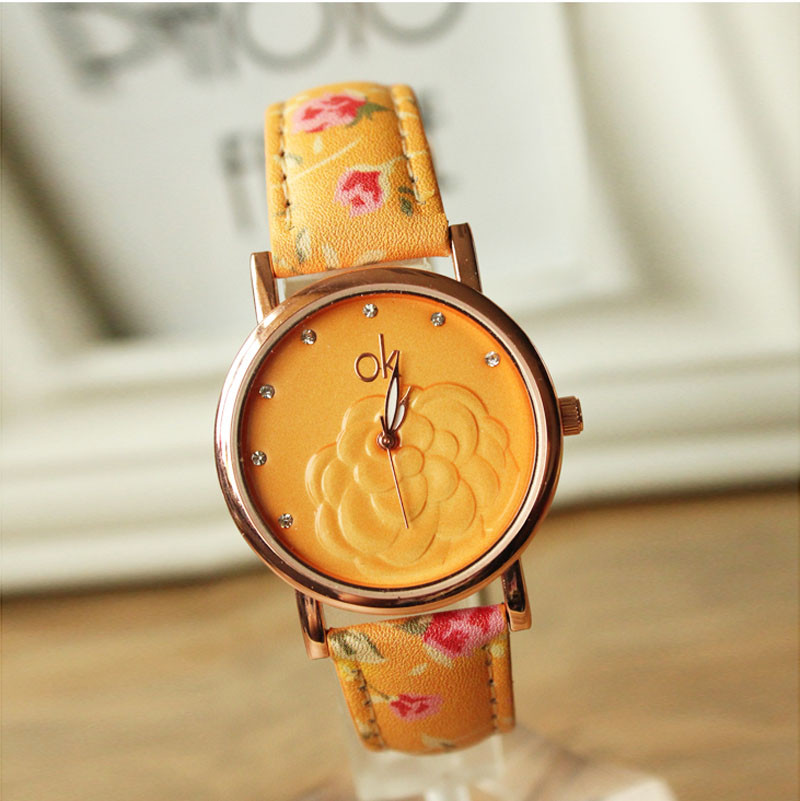 Camellia Diamond Floral Best selling Women Watches Qu