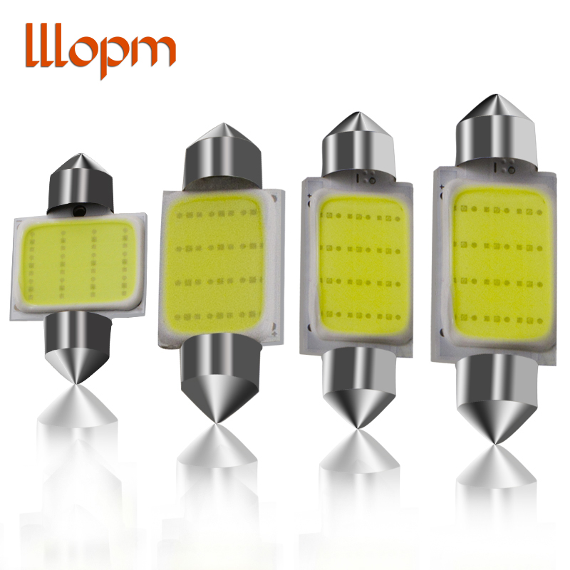 31mm 36mm 39mm 41mm FESTOON 12 Chips COB LED Bulb C5W C10W Car Dome Light Auto Interior Map Roof Reading Lamp DC12V White Color nao 2x c5w led c10w bulb car interior light festoon 31mm 36mm 39mm 41mm smd 3030 cob reading dome lamp 12v 24v 6000k white