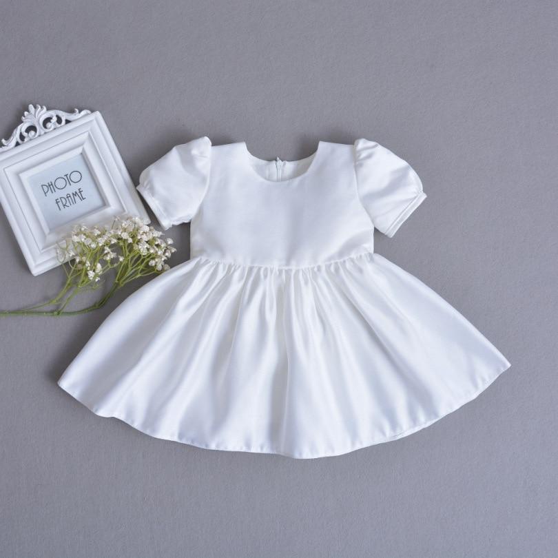 3pcs Set Baby Girls Christening Gown Ruffle White Dress+Lace Shawl+Hat  Newborn Infant Princess Birthday Party Dress Gift 0-30M