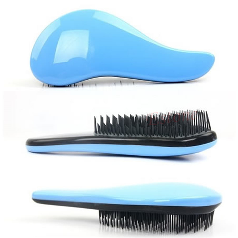 nuovo abs colorato magico districante maniglia spazzola di capelli pettine salon styling strumento simpatico pettine per