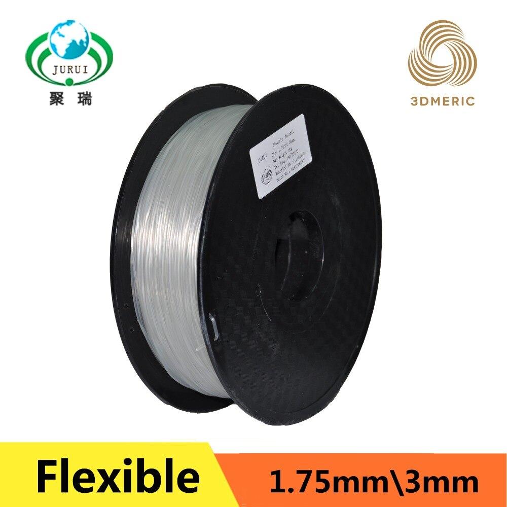 Natural color flexible strong Elastic TPE 3D 1 75 printing filament for industrial desk printer free