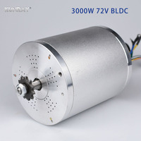 KUNRAY Electric Scooter Bicycle BLDC 72V 3000W Brushless Motor For E Bike Motorcycle 2 Wheel Balance Scooters MY1020 4900RPM