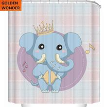New Shower Curtain Cartoon Animal Bath Curtains Waterproof Shower Curtain Vintage Home Decor High Quality цена 2017
