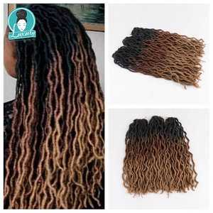 Braiding Crochet Blond Faux-Locs Hair-24strands Ombre for Curly 20inch 50cm Synthetic