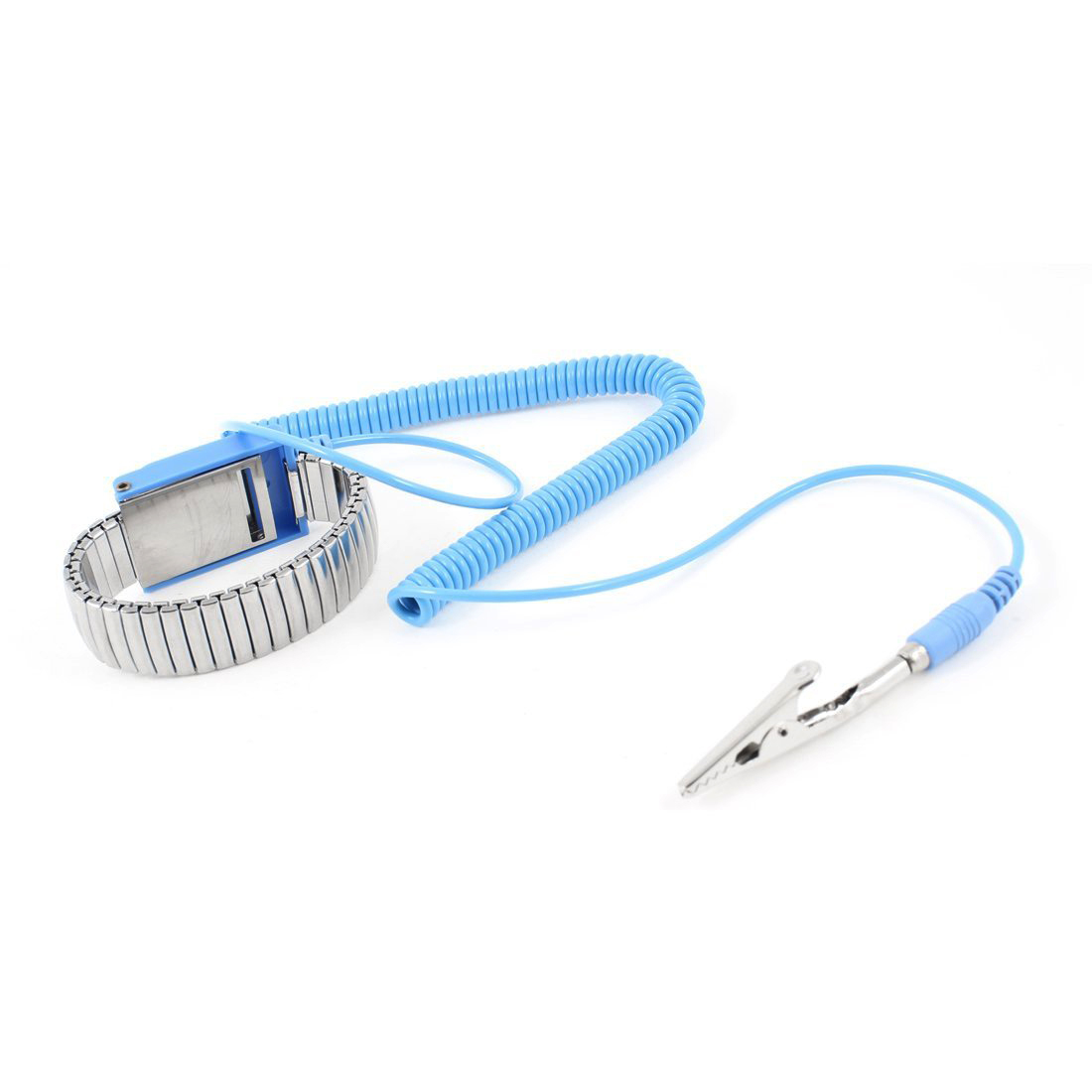 Smart Accessories United Antistatic Esd Wristband Metal Adjustable Grounding Strap Blue