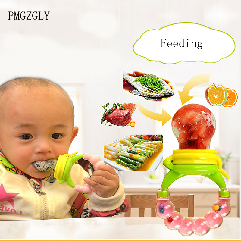 US $0 71 15% OFF|Safety Silicone Infant Nipple Baby Food Chew Pacifier  Soothers Silica Gel Fruits Vegetables Toothbrush Nipple Feeding Pacifier-in