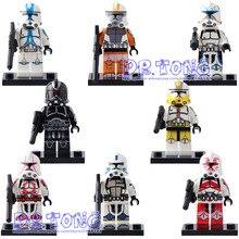 DR. TONG 8 pçs/lote PG8078 Clone Trooper Stormtrooper Figuras Modelo Bloco de Construção Tijolos Educação Brinquedos Crianças Presentes