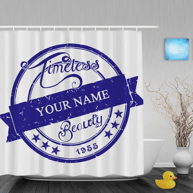 Personalized Shower Curtain Custom 1955 Timeless Beauty Decor Bathroom Curtains Polyester Waterproof Fabric With Hooks