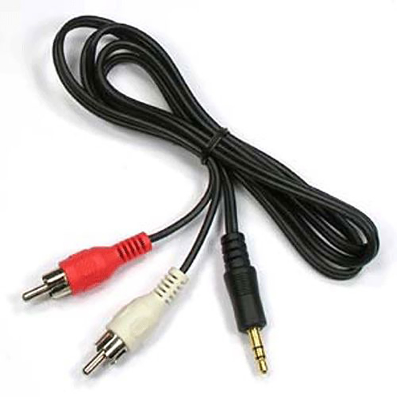 1m 3.5mm Jack Aux To 2 RCA Audio Video Cable Stereo Y Splitter Cable AV Adapter 2RCA Cord Wire For PC DVD TV VCR Speakers Camera