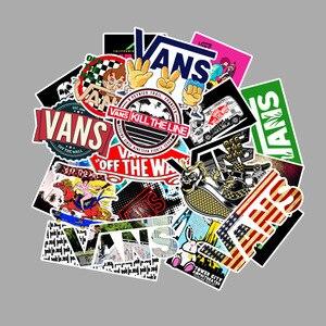Image 5 - 100 pçs/set dos desenhos animados bonito doodle etiqueta marca skate mala portátil guitarra carro pvc papel de parede à prova dwaterproof água