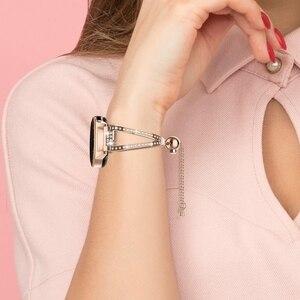Image 5 - Reloj de 42mm para mujer, pulsera de joyería ostentosa de 20mm, correa de liberación rápida para Samsung Galaxy Watch 42mm/Galaxy Watch Active 40m