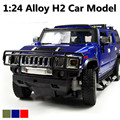 1:24 Hummer H2 car model alloy car models high simulation model Jeep off-road vehicles, shipping