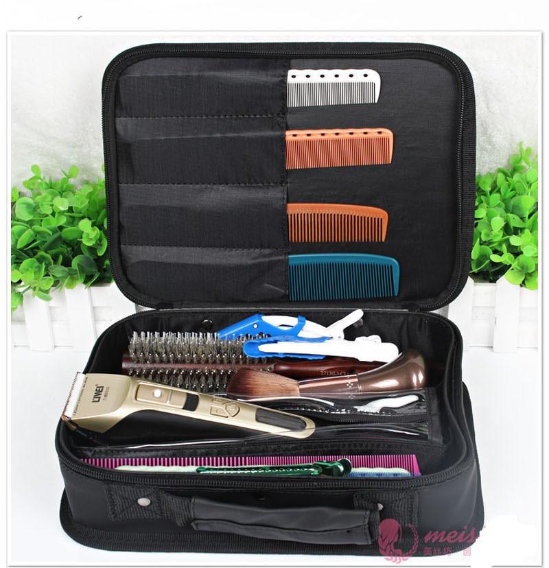все цены на Hairdressing Tool Handbag Nylon /PU Leather Professional Stylists Hair Scissors Tool Box Bag Salon Tool Storage Bag онлайн