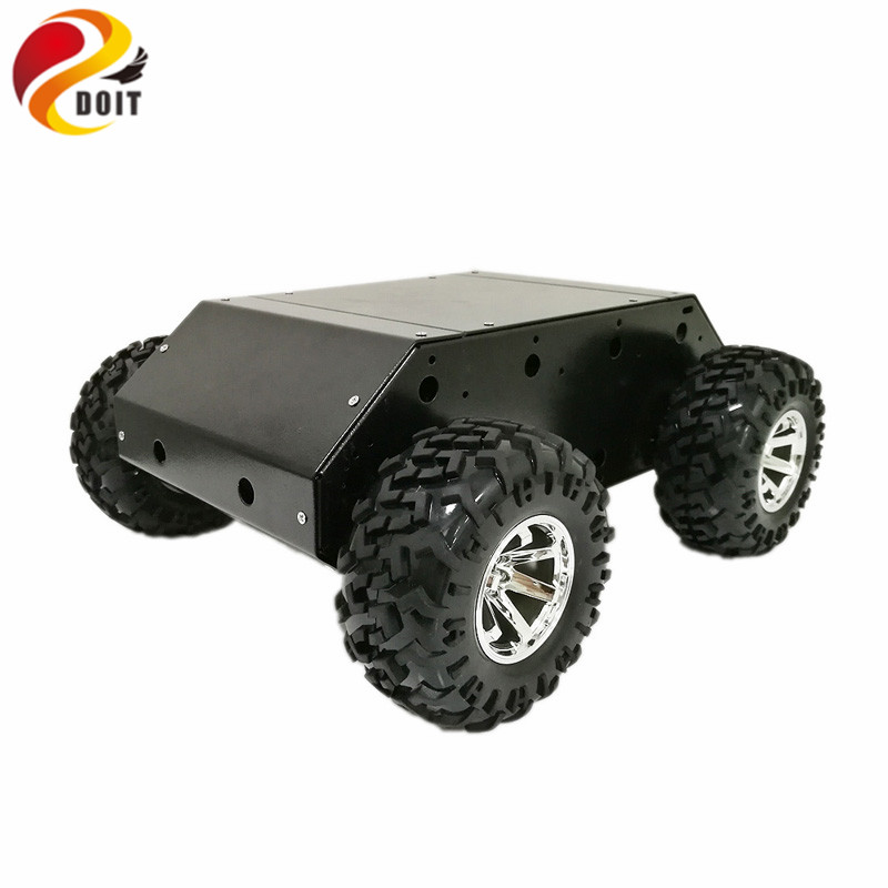 New Style VC 200 4wd Car Chassis with Stainless Steel Frame, 130mm Rubber Wheel, 12V High Power Motor for Arduino DIY RC Toy