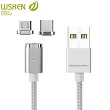 WSKEN Micro USB di Tipo C Cavo Magnetica 2 in 1 Mini 2 del Caricatore Magnetico Cavo di Ricarica Veloce per Sansung S7 s8 Nota 8 Hauwei USB C