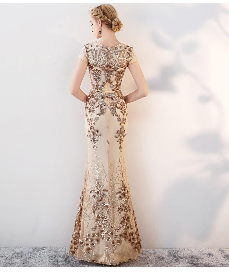 Mermaid Evening Dress Lång 2018 Eleganta Aftonklänningar Långa - Särskilda tillfällen klänningar - Foto 2