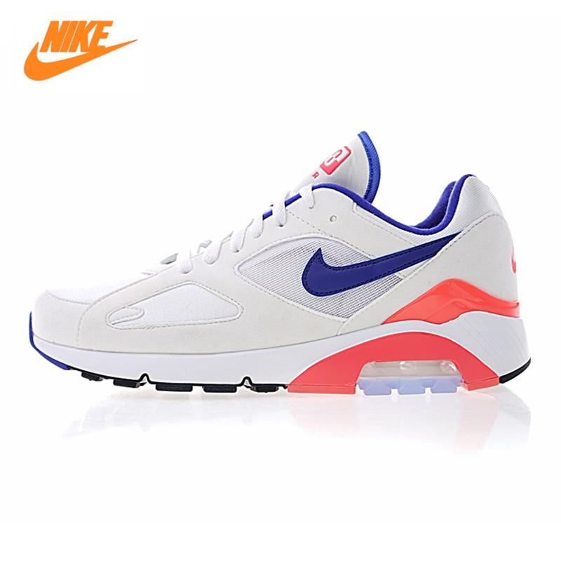 Nike Air Max 180 Outremer de OG Hommes et Femmes de Chaussures de Course, blanc et Bleu et Rose, choc Absorbant Respirant 615287 100