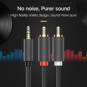Image 4 - Ugreen RCA 3.5mm jack Cable 2 RCA Male to 3.5 mm Male Audio Cable 1M 2M 3M Aux Cable for Edifer Home Theater DVD Headphone PC