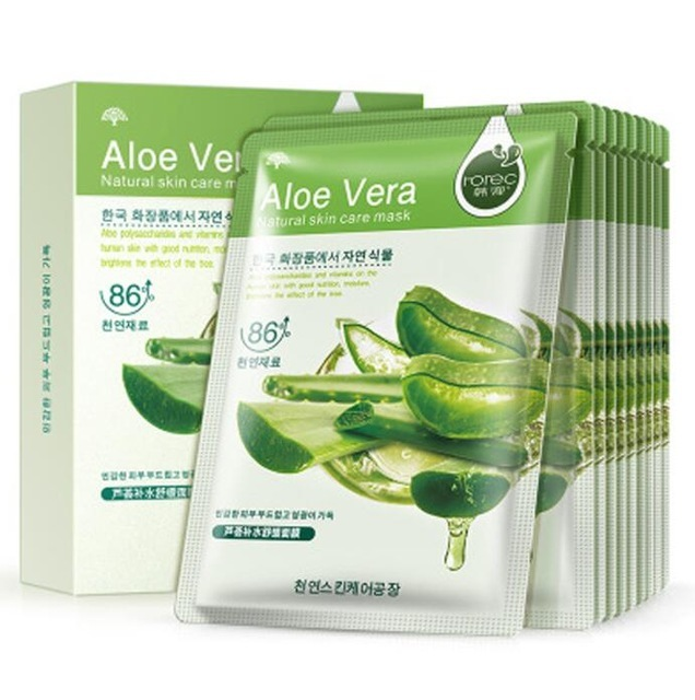 10PCS Anti Wrinkle Face Mask Skin Care Sheet Mask Aloe Honey Olives Pomegranate Facial Mask Moisturizing Beauty Korean Cosmetic