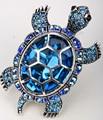 Grande tartaruga trecho do anel antigo de prata banhado a ouro W cristal de seda lenço de jóias presentes para mulheres meninas por atacado dropshipping
