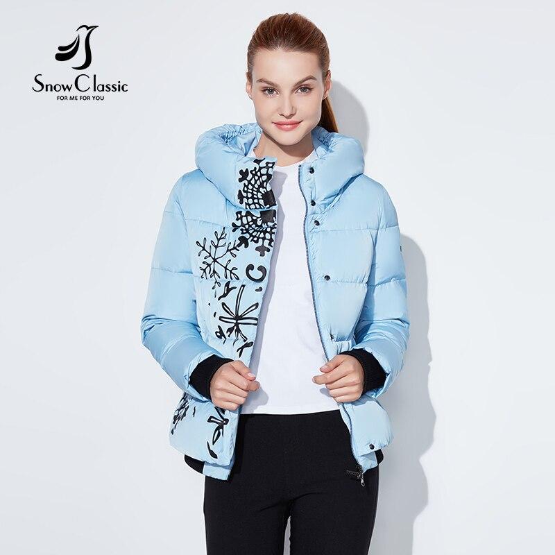 Snowclassic منتظم نماذج سيدة الطباعة عارضة الأزياء القطن سستة زائد زر غير المتكافئة تصميم الأوروبية نمط الشتاء الدافئة-في سترات فرائية مقلنسة من ملابس نسائية على  مجموعة 2