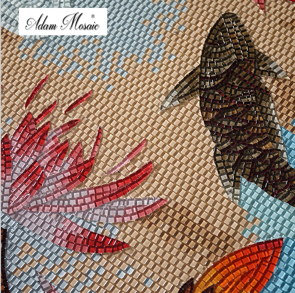 Online buy wholesale glass craft tiles from china glass for Mosaic tiles for craft