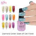 Diamond Glitter Soak off Gel Polish High Gloss Shiny Platinum Color Nail Art Gel Polish Persistent Non-toxic Smooth Fast Drying