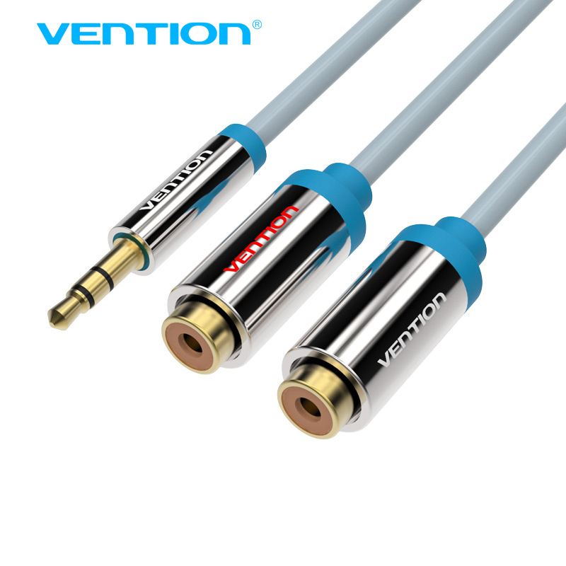 Vention Female 2 RCA To 3.5mm Jack Audio Cable 0.3m RCA Audio Splitter Y Cable For Stereo Amplifier Home Theater Cable RCA Jack