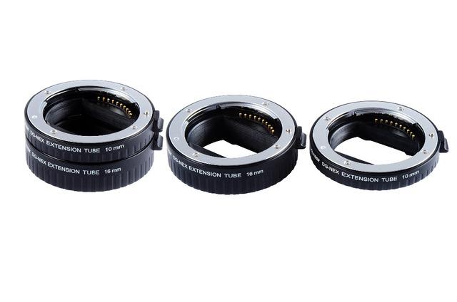 Original dg-nex viltrox auto focus af anel tubo de extensão 10mm 16mm conjunto adaptador de lente de montagem de metal para a sony e-montagem da lente