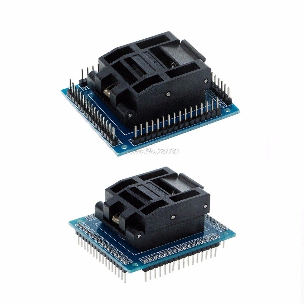 Test Socket Programming Adapter Conversion Block For 0.5m QFP64 TQFP64 LQFP64 ICTest Socket Programming Adapter Conversion Block For 0.5m QFP64 TQFP64 LQFP64 IC