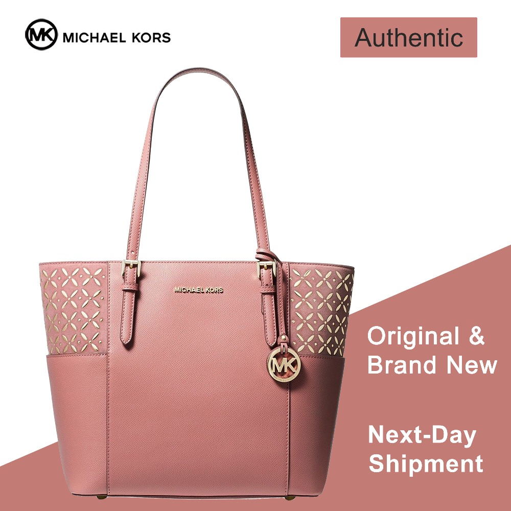 Michael Kors Jet Set Travel Tote (Rose Gold) Luxury Handbags For Women Bags  Designer by MK b27a5e2612