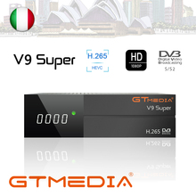 FREESAT Gtmedia V9 Super DVB-S2 Built-in WIFI Support AVS+HD.265 Youtube Satellite Receiver with 1 year clines cccam IPTV TV box dvb s2 1080p hd v8 nove satellite tv receiver with 1 year cccam clines iks full hd h 265 freesat v8 nove sat decoder youtube
