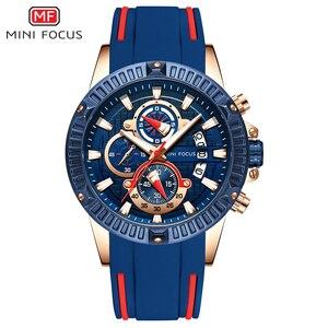 Image 1 - MINI FOCUS Mens Watches Top Brand Luxury Fashion Sport Watch Men Waterproof Quartz Relogio Masculino Silicone Strap Reloj Hombre
