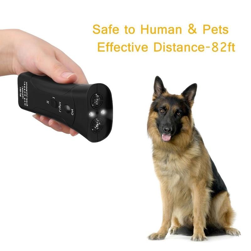 New Ultrasonic Dog Chaser Aggressive Attack Repeller Trainer LED Flashlight training Repeller Control Anti Bark Barking 5