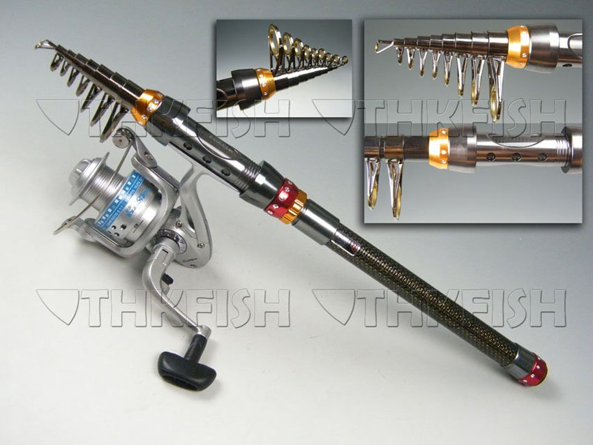 180CM Protable telescope Telescopic Travel Spinning Rod Fishing Pole rod