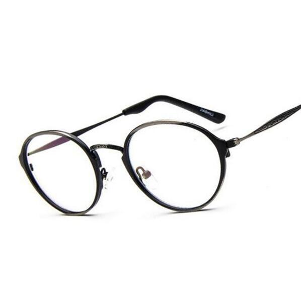 ba1b79a27a5 Vintage Metal Spectacles Frame Famous Brand Designer Fashion Eyeglasses  Elegant Round Optical Glasses Frame Oculos de grau Retro